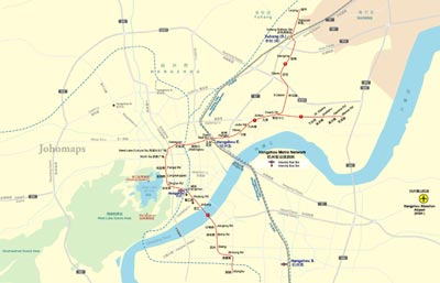 Metro Map of Hangzhou JohoMaps