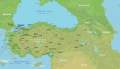 Turkey Rial Map