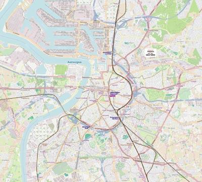 Metro Map of Antwerp